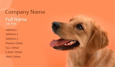 Orange Dog Training Business Card Template